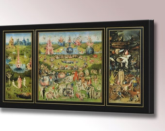 Hieronymus Bosch Garden of Earthly Delights Canvas Art Wall Art Print Bosch Print Home Decor Ready To Hang