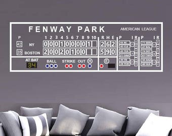 Fenway Park Scoreboard Decal