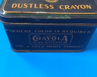 Antique Metal Tin An-Du-Septic Artist Blackboard Dustless Crayola Crayon Advertising Binney and Smith New York USA