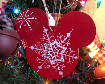 Love the Mouse snowflake ornament