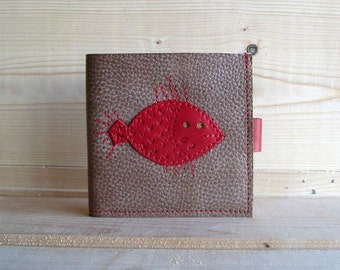 Leather Wallet - fish, Leather wallet, Wallet Nemo, Leather Wallet Handmade, Wallet Custom, Cute Wallets, Wallet