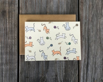 Cat Note Card Set, Cat Thank You Card Set, Cat Stationery Set