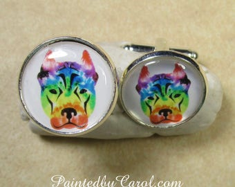 Pit Bull Cufflinks, Pit Bull Jewelry, Pit Bull Mens Gifts, Pit Bull Gifts, Pit Bull Suit Accessories, Pit Bull Bridal, Pit Bull Wedding