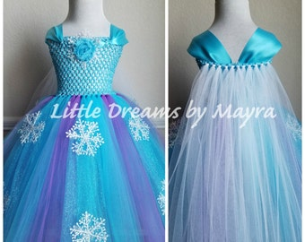 Affordable Elsa tutu dress inspired - Purple Queen Elsa costume inspired - Purple Frozen birthday inspired tutu dress size nb to 14years