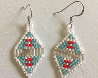Small Diamond Beaded Earrings