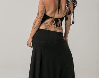 Black Gypsy Top , Gypsy Clothing , Festival Top , Festival Clothing , Beach Top , Crop Top , Black
