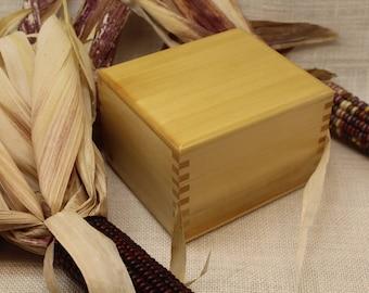 Recipe Box, Yellow Cedar Recipe Box, Wood Recipe Box, Recipe Box 3 x 5, Cedar Recipe Box, Index Card Box, File Card Box (rc51126M)