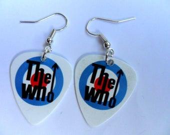 Handmade THE WHO   Guitar Pick // Plectrum Earrings