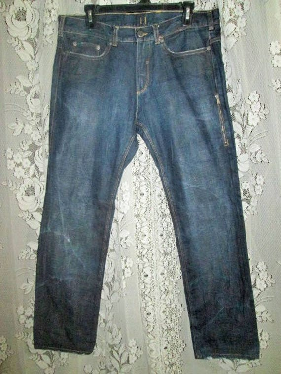 Vintage BARRETT Size Jeans Italy NEIL 35 Dark Men In Denim Indigo Made xrU6pxw