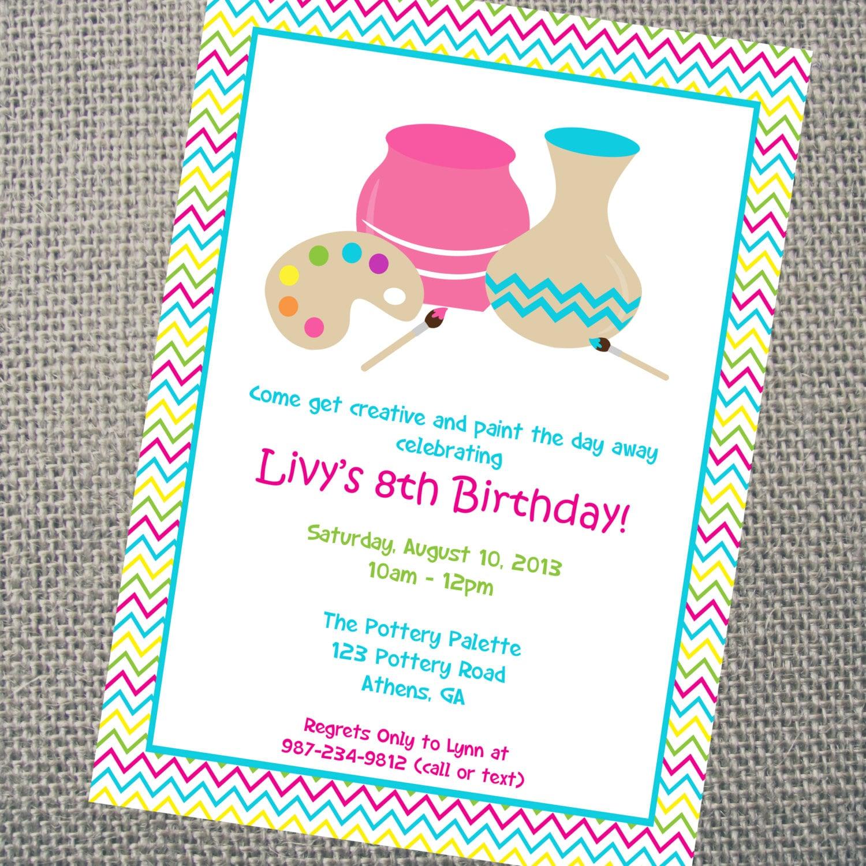 craft birthday party invitations Josemulinohouseco