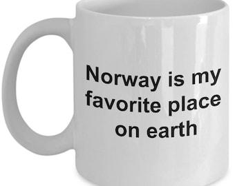 Norwegian Mug - Norway is my favorite place on earth - Norway lovers -  Coffee Mug - Unique Gift