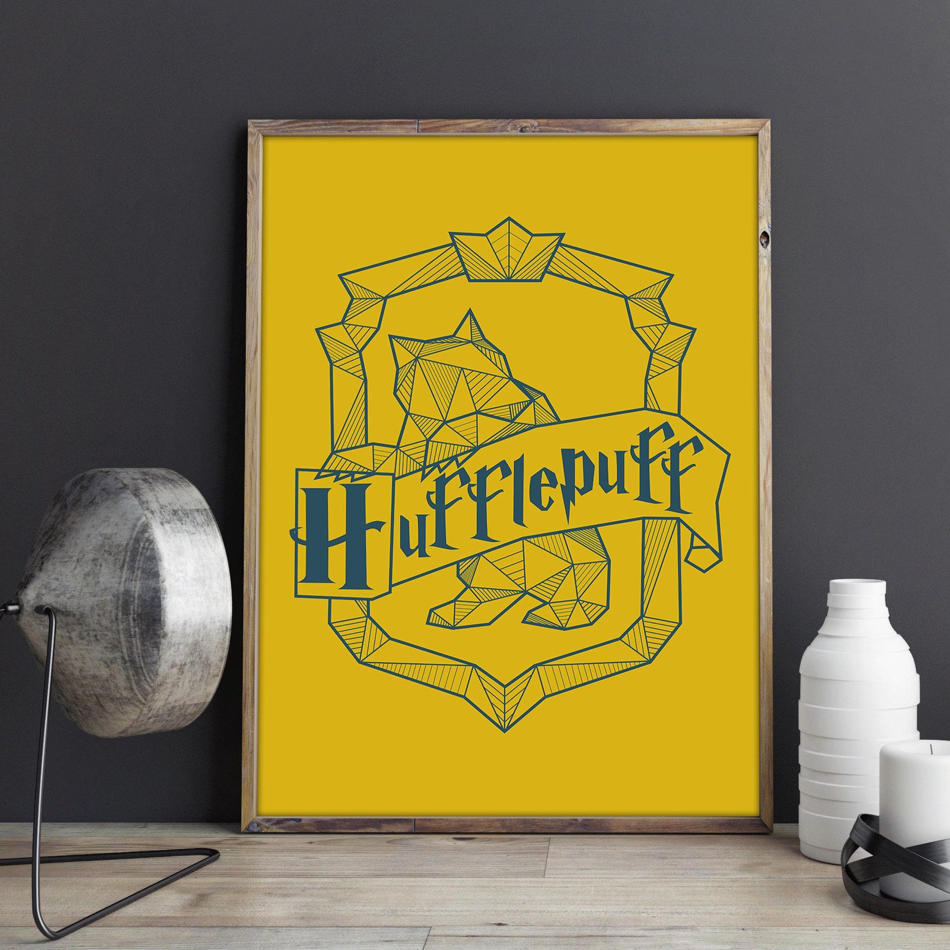 Hufflepuff Crest Poster Harry Potter Decor Hogwarts Wall