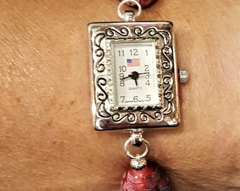 Lady's Patriotic Watch with Eleastic Band - July 4th Special