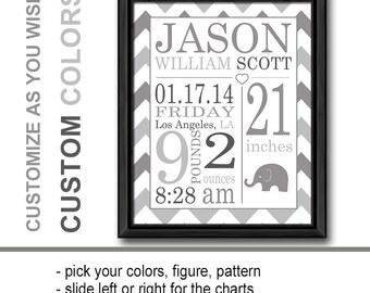 Birth announcement wall art blue personalized baby gifts birth announcement wall art gray personalized baby gifts birth stats baby stats negle Image collections