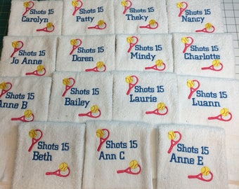 Embroidered Personalized Tennis towel, coach gift, custom embroidered towels,  personalized gift,