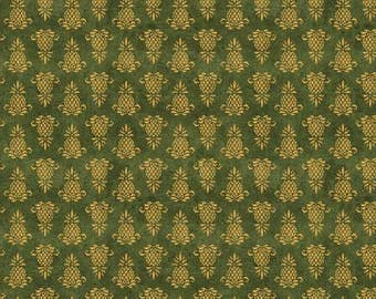 The Way Home Green Pineapple Icon Fabric - Jennifer Pugh - Wilmington Prints - by the half yard - 100% Cotton
