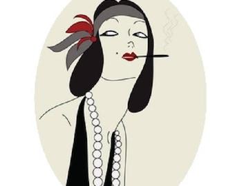 pretty woman, 18x25mm smoker 20 year cabochon