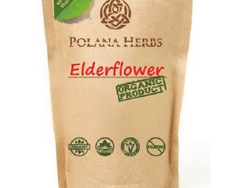 ORGANIC ELDERFLOWER HERBAL Tea (Sambucus nigra flos) Immune Defense, Anti Flu and Colds, Antioxidants, Nourishing