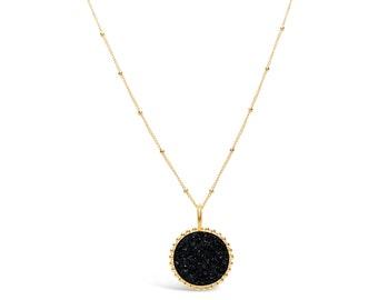 Black Druzy Neckace, Druzy Jewelry, Drusy Necklace, Drusy Jewelry, Druzy Quartz Necklace, Bridesmaid Jewelry, Bridesmaid Necklace