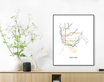 Nyc Subway Map Poster