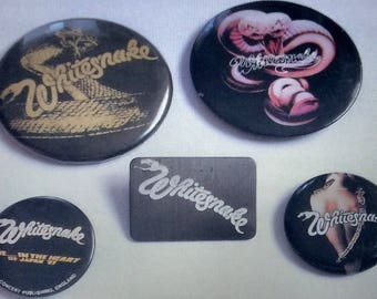 Whitesnake Japanese Badges x 5