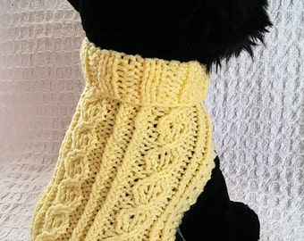 Celtic Triad Dog sweater knitting pattern PDF Triad Cable design