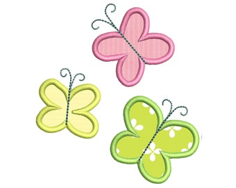 Machine Embroidery Applique Design Mini Cute colorful butterfly (15024)