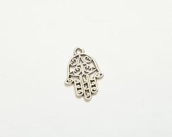Hamsa Hamesh Chamsa Khamsa Fatima Charm  Jewish Palm-shaped amulet - Listing is for ONE Charm