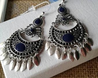 Bohemian Moon Earrings,Statement Earrings