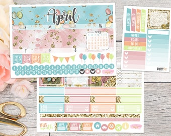 April Monthly Kit || Planner Stickers for use with ERIN CONDREN LIFEPLANNER™