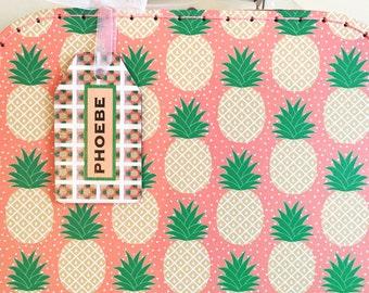 Kids Craft Kit, children's craft, craft supplies, pineapple print, craft kits for kids, paper craft, pineapple gifts - medium