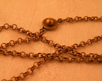"""Antiqued Brass Rolo Chain Blank 24"""""""