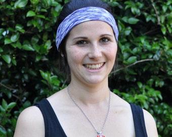 Purple headband, Sweatband, running headband, sports headband, yoga headband, active wear, non-slip headband, soft headband, space dyed