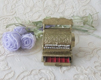 New / Vintage Dollhouse Miniature Hand Painted Metal Cash Register - Antique Style