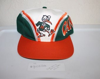 Vintage 90's University of Miami Hurricanes Snapback by Twins