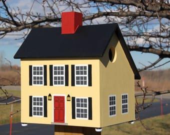 Salt Box Bird House (Yellow)