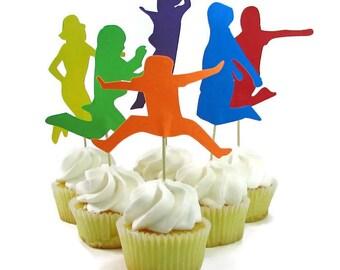 Gâteau fête trampoline, saut de gâteau pour enfant, gymnastique partie décor, sauter décorations de fête d'anniversaire, QueenBeeInspiratons