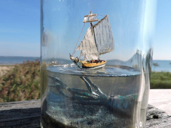 Kraken and Ship in a Bottle