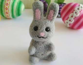 Bunny Needle Felted Wool Rabbit Small