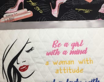 Be a girl with a mind Embroidery Design