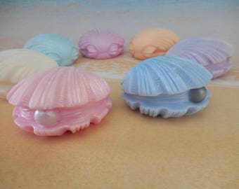 Pearl Soap - Sea Shell Soap - Clam Shell Soap - Beach Wedding Favor - Soap Wedding Favor - Destination Wedding Favor - Sea Soap - Beach Soap