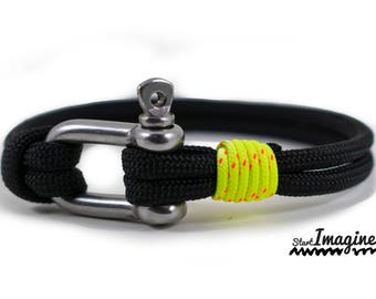 Paracord  Nautical bracelet with stainless steel  D shackle No.4