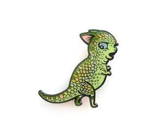 Derpy Dinokitty™ - enamel pin by Mab Graves