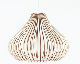 Wood Lamp / Wooden Lamp Shade / Hanging Lamp / Pendant Light / Decorative Ceiling Lamp / Modern Lamp /