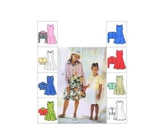 SALE Girls Unlined Jacket Flared Princess Seam Dress McCalls 8627 Vintage Sewing Pattern Size 7 - 8 - 10 UNCUT