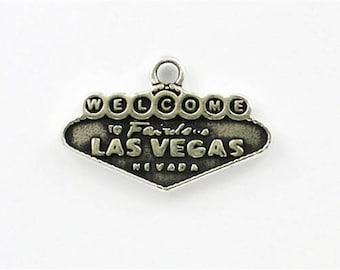 Sterling Silver Las Vegas Sign Charm