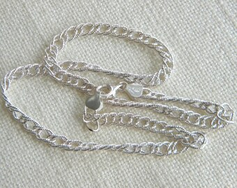 lovely chain Silver 925 Necklace ~ excellent shimmering sparkling ~~ inA1920