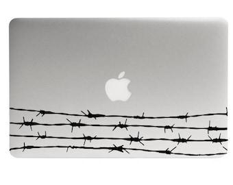 Barbed Wire MacBook Decal, Wire Fence Sticker, Ranch Decal, Western Theme, MacBook Sticker, Graphic Design, Laptop Sticker Barbed Wire Decor