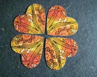 Orange Hearts Confetti