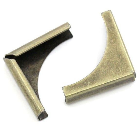 Set of 4 corners / angle - bronze - size: 20 mm